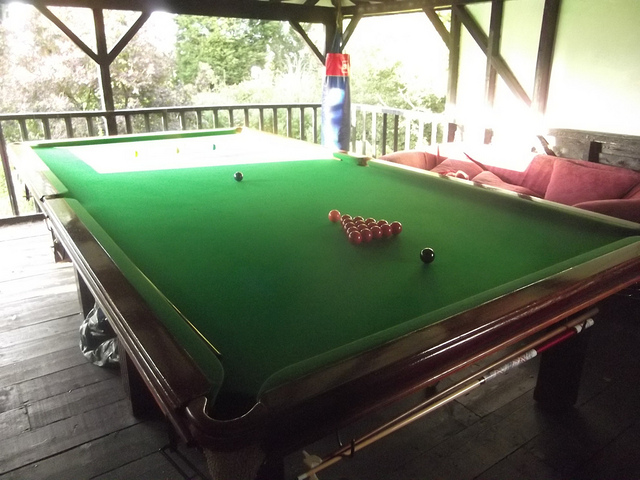 Snooker table at Grove Farm