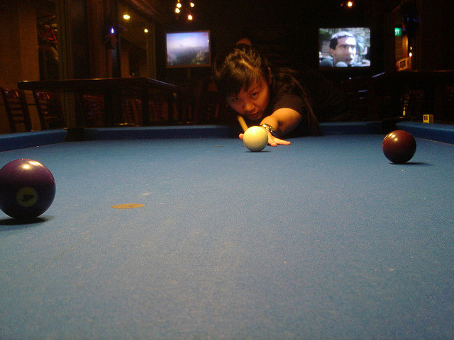 Aiming on the Pool Table