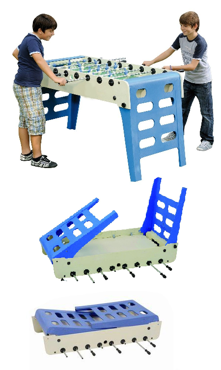 Outdoor Foosball Table with Folding Legs