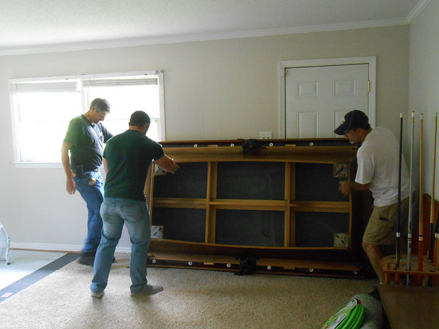 How To Move A Pool Table Within Your Home GTO - How to move a slate pool table