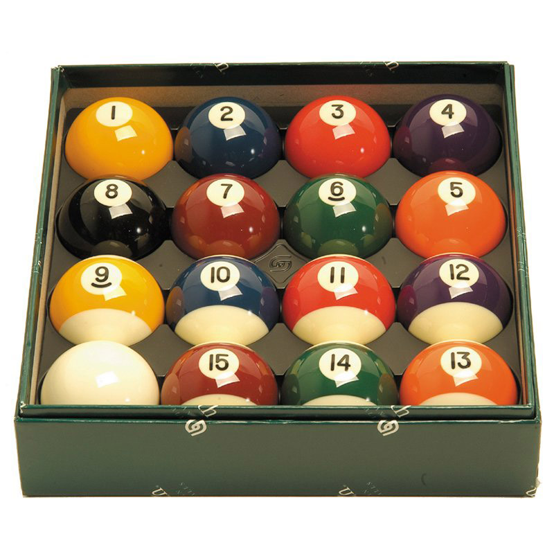 Billiard balls stripes and solids
