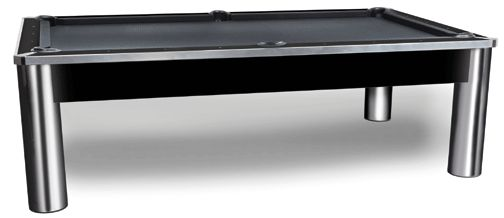 8 foot imperial spectrum chrome and black pool table - Slate Pool Table