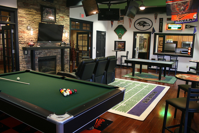 Remodeled Game Room