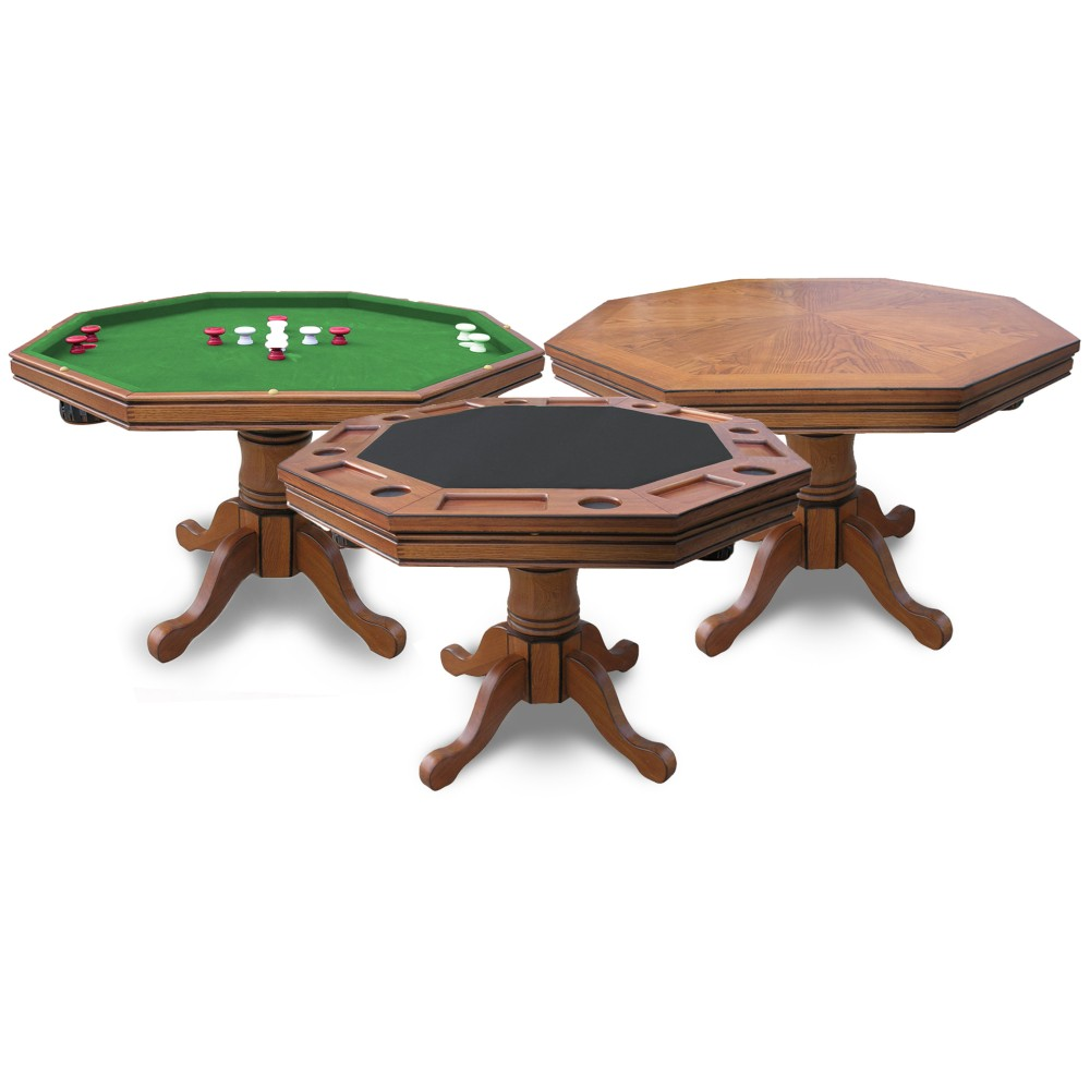 3-in-1 Poker Table with four chairs