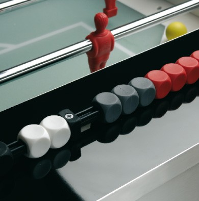 Abacus on a foosball ball table