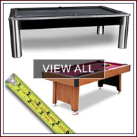 Shop for pool tables by size