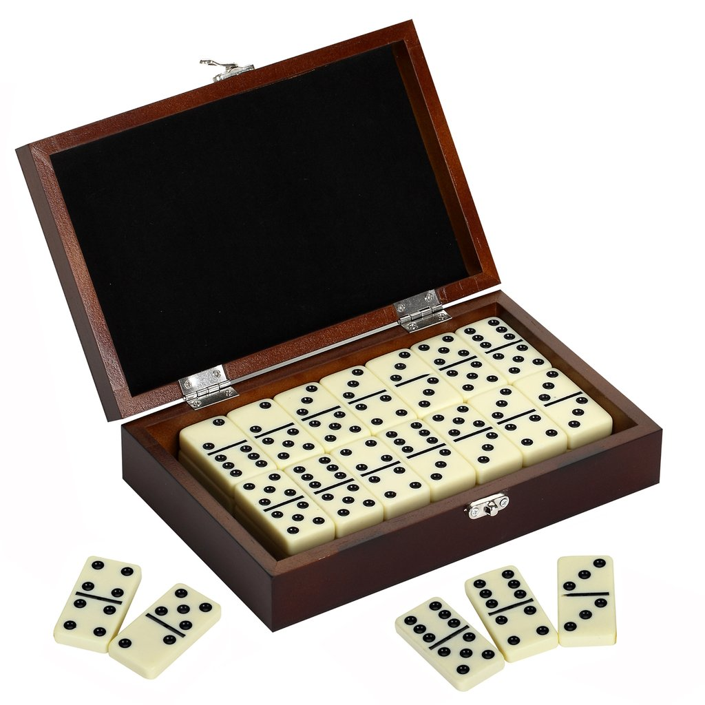 Domino Set with Wooden Carrying Case
