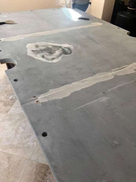 Pool table slate installation