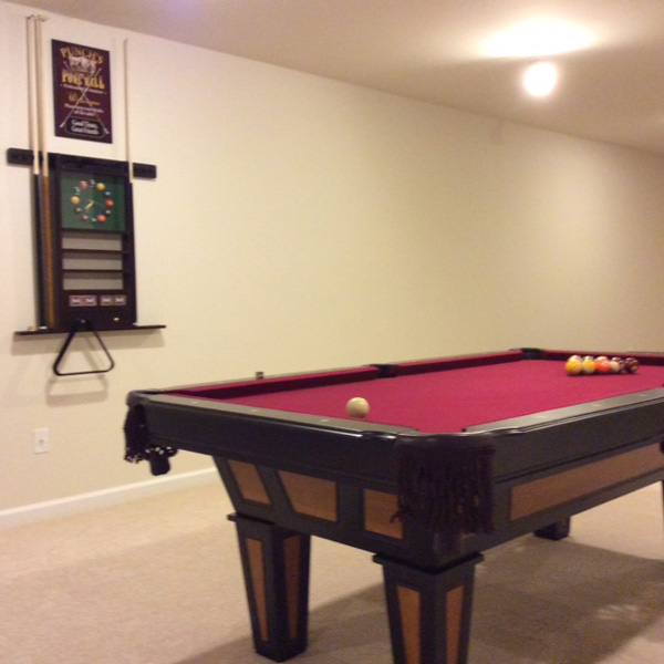 reno 7 foot pool table with play pack - Carpet Ball Table