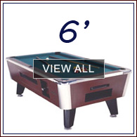 Shop Pool Tables By Size GameTablesOnlinecom - Six foot pool table