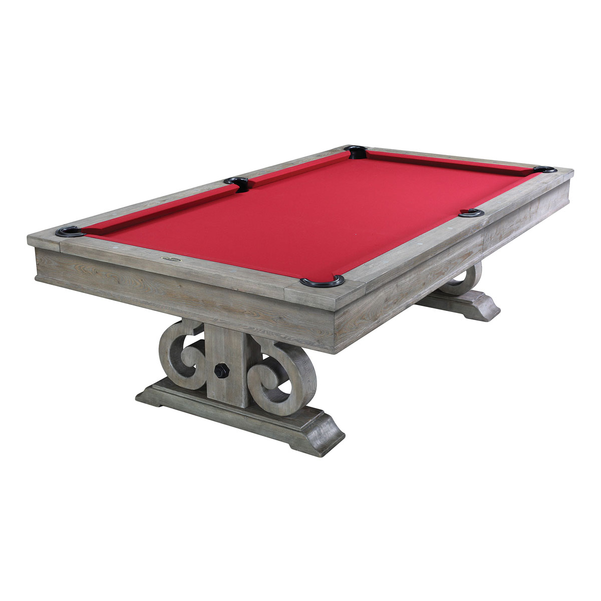 8 39 Imperial Barnstable Convertible Weathered Oak Pool Table