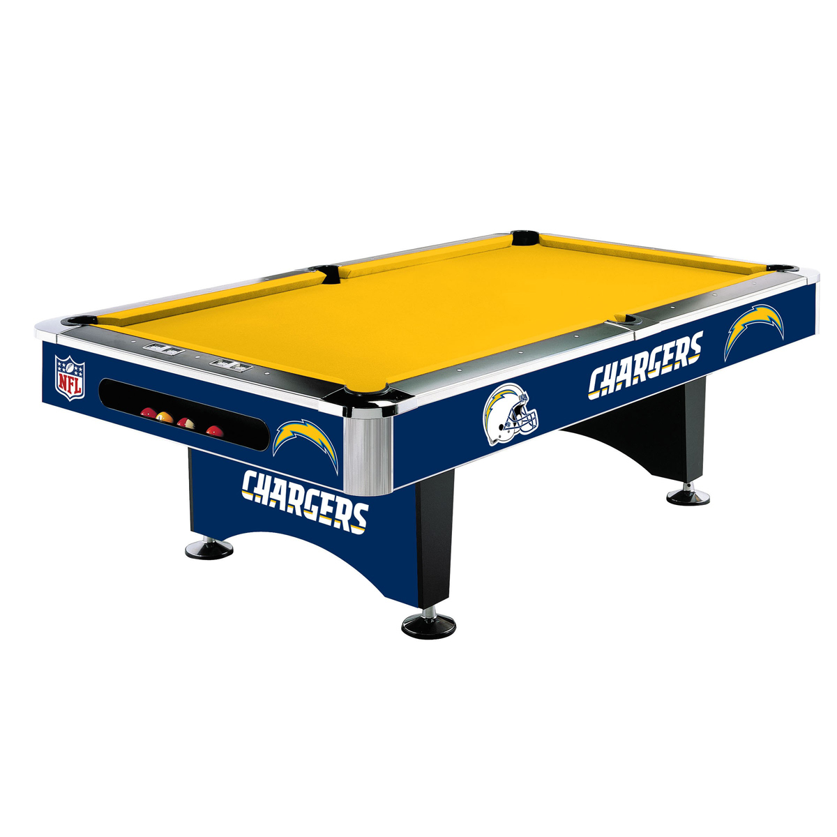 LOS ANGELES CHARGERS 8-FT. POOL TABLE