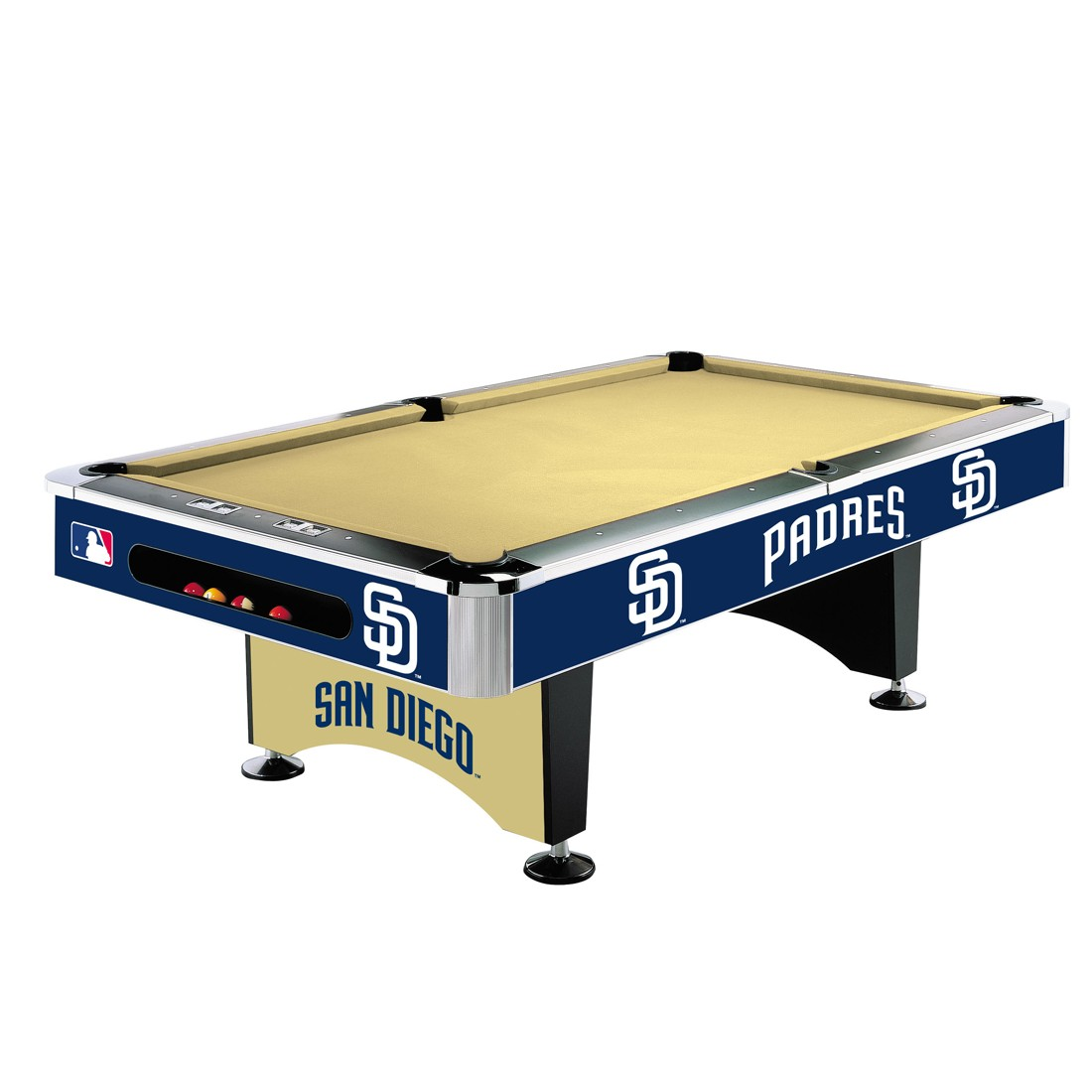 SAN DIEGO PADRES 8-FT. POOL TABLE
