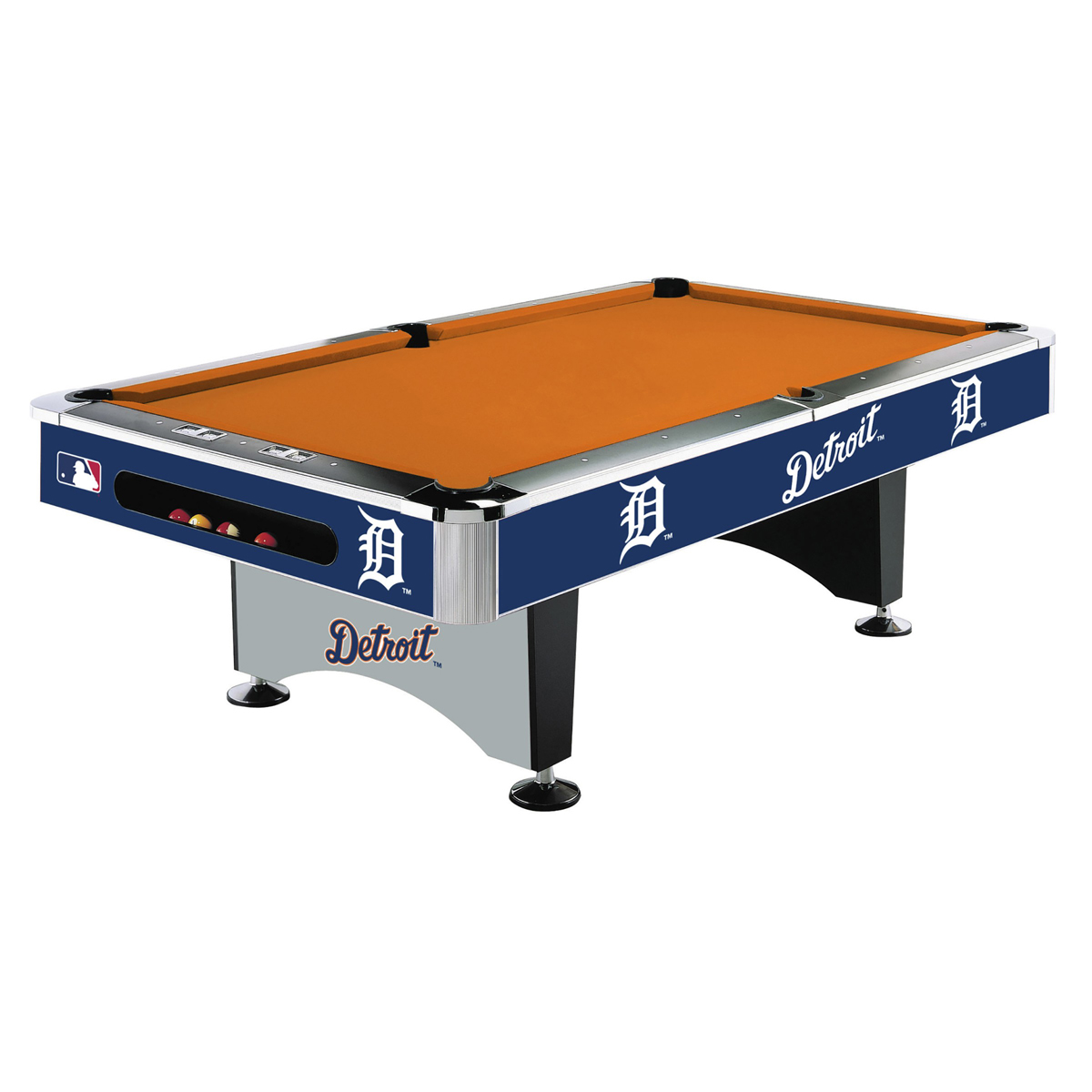 DETROIT TIGERS 8 FT. POOL TABLE