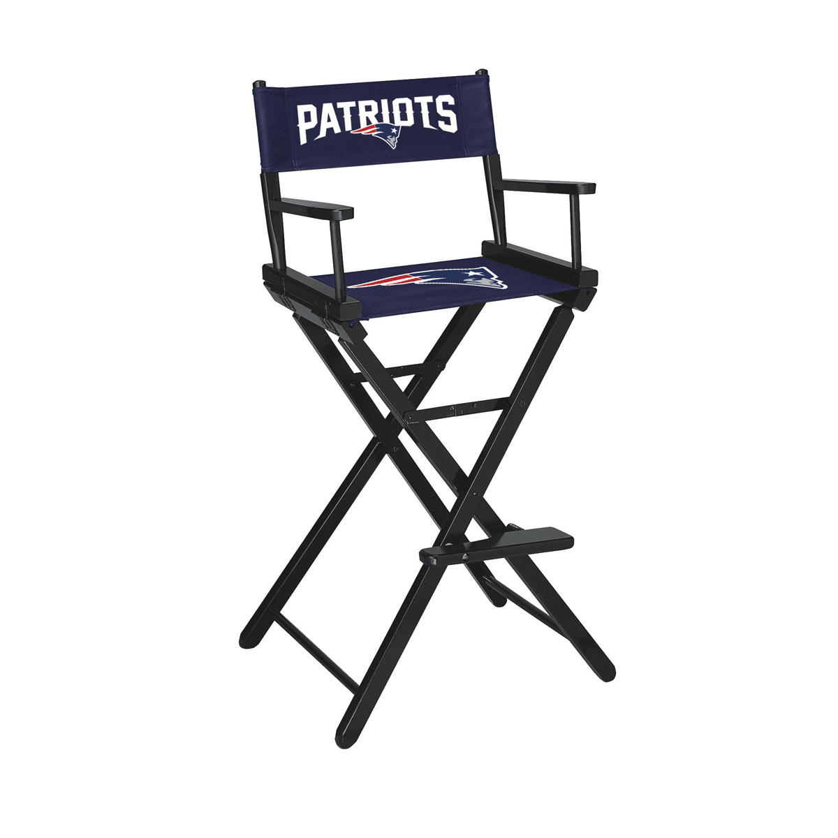 NEW ENGLAND PATRIOTS BAR HEIGHT DIRECTORS CHAIR