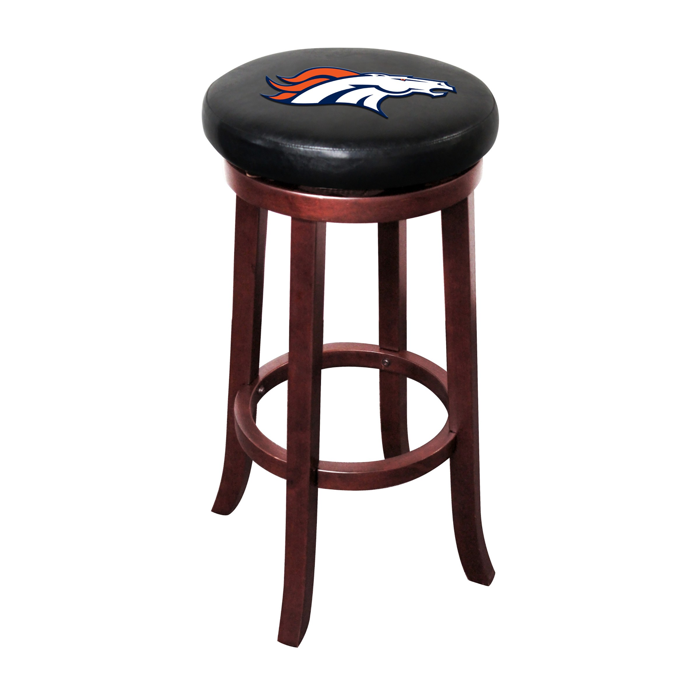 DENVER BRONCOS WOOD BAR STOOL
