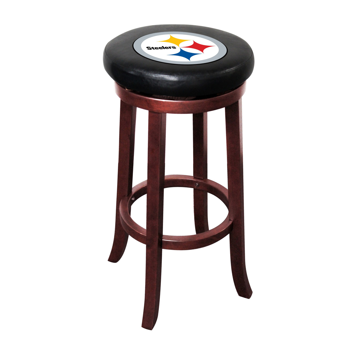 PITTSBURGH STEELERS WOOD BAR STOOL