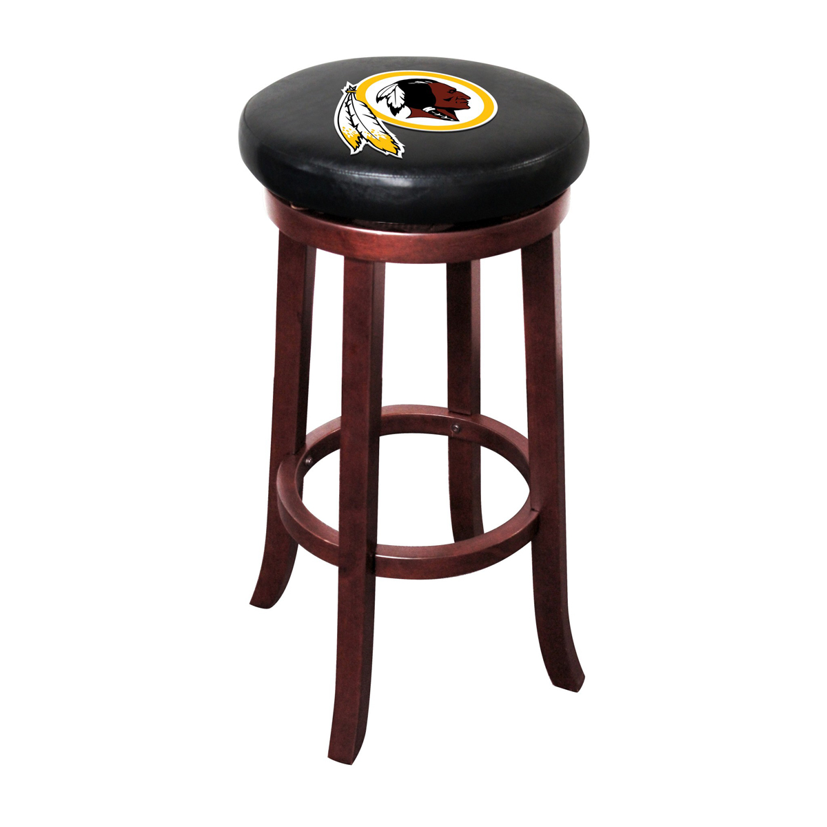 WASHINGTON REDSKINS WOOD BAR STOOL