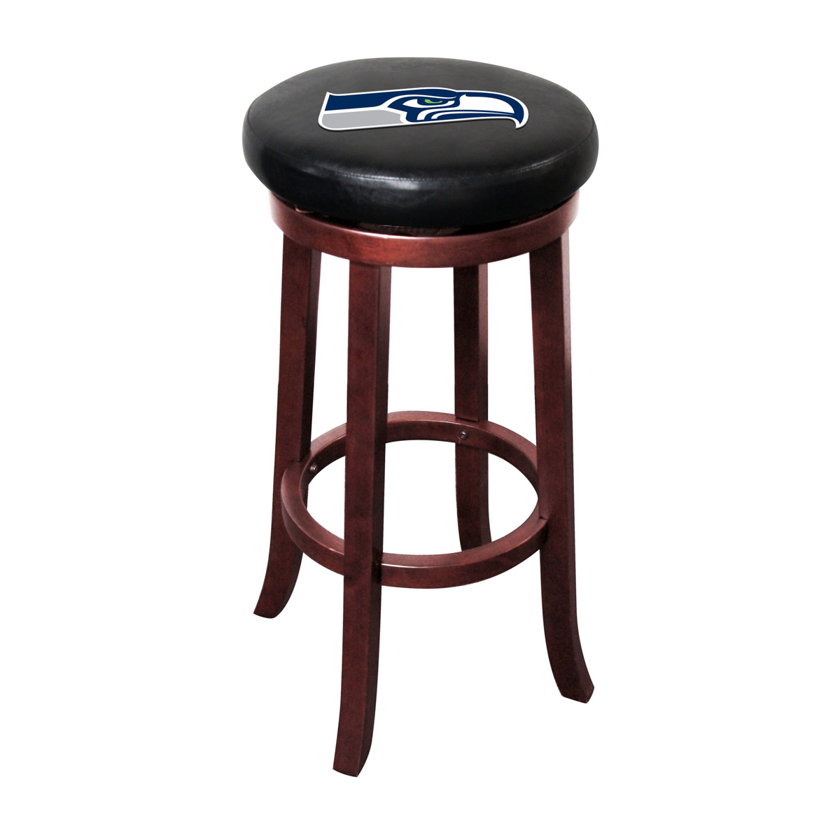 SEATTLE SEAHAWKS WOOD BAR STOOL