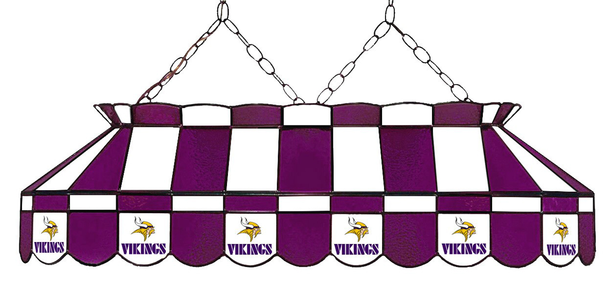 MINNESOTA VIKINGS 40-IN. STAINED GLASS POOL TABLE LAMP