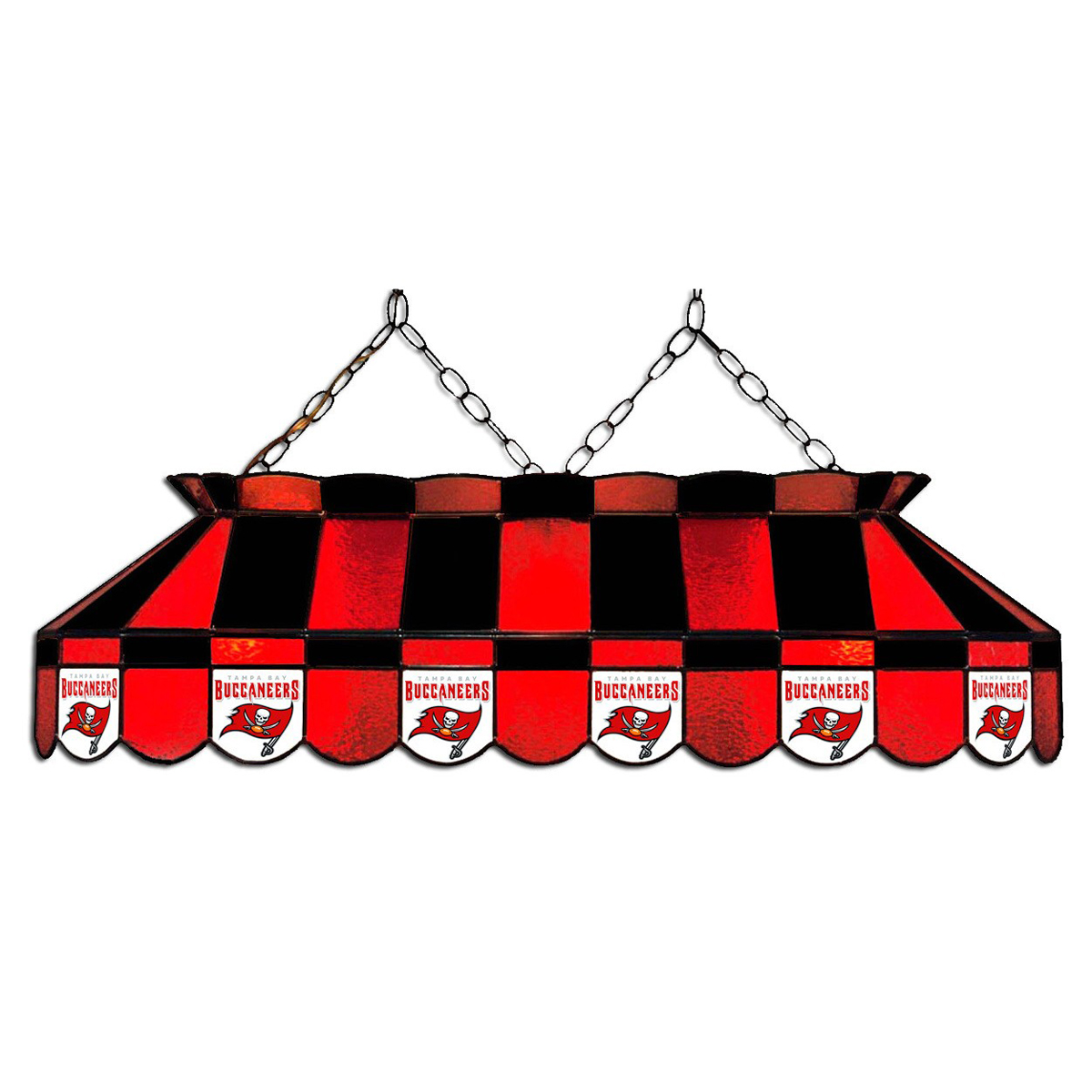TAMPA BAY BUCCANEERS 40-IN. STAINED GLASS POOL TABLE LAMP