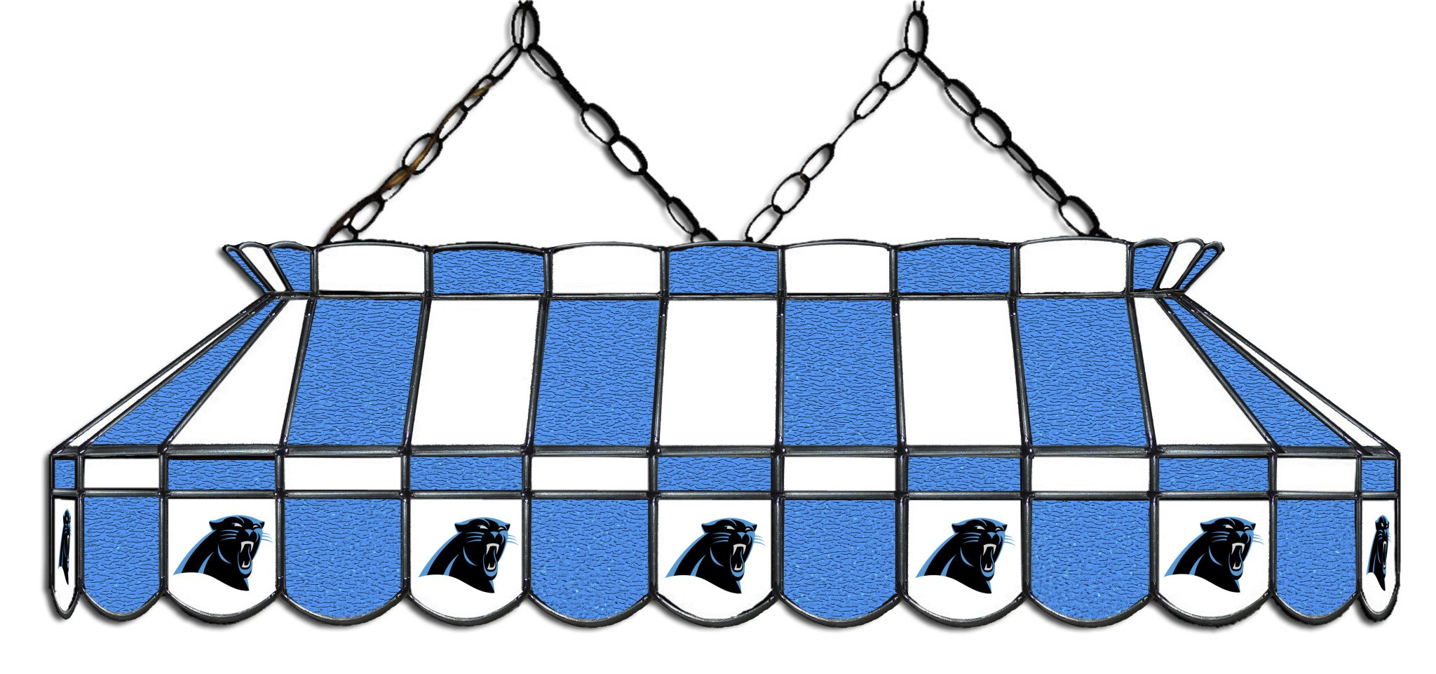 CAROLINA PANTHERS 40-IN. STAINED GLASS POOL TABLE LAMP