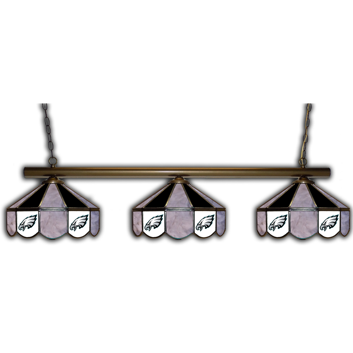 PHILADELPHIA EAGLES 3 SHADE GLASS LAMP