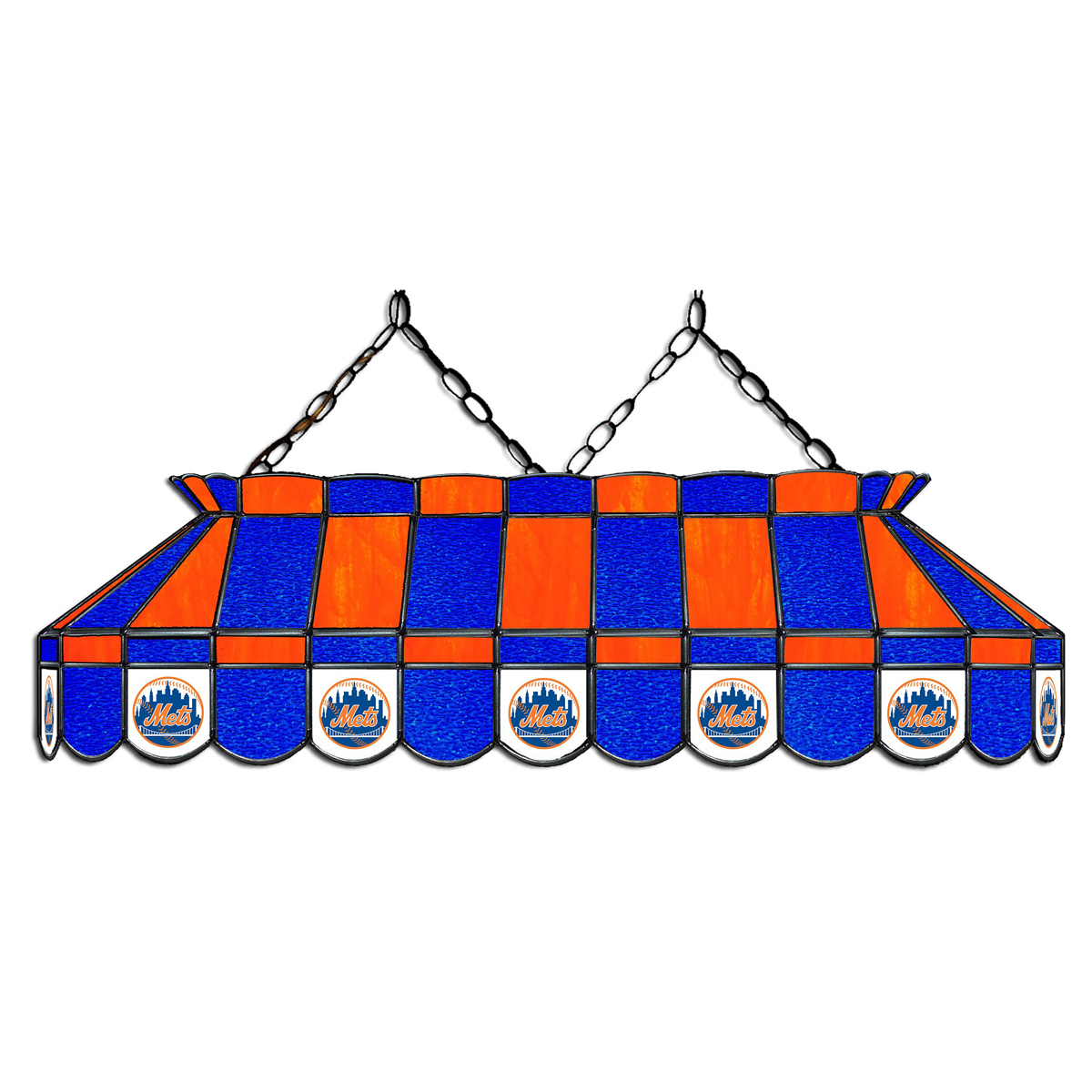 NEW YORK METS 40-IN. STAINED GLASS POOL TABLE LAMP