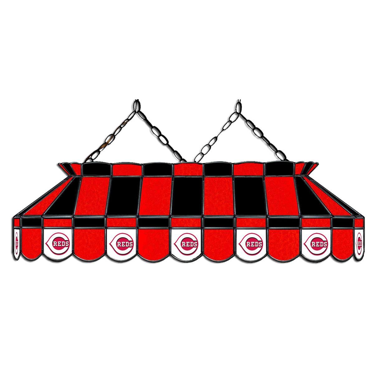 8' MLB Cincinnati Reds Team Logo Pool Table