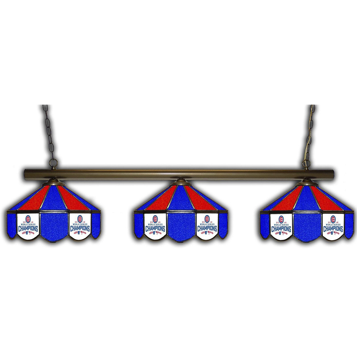 CHICAGO CUBS 3 SHADE GLASS LAMP