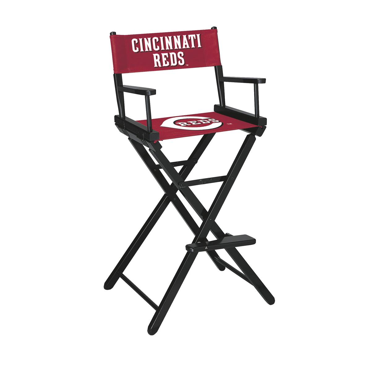 CINCINNATI REDS BAR HEIGHT DIRECTORS CHAIR