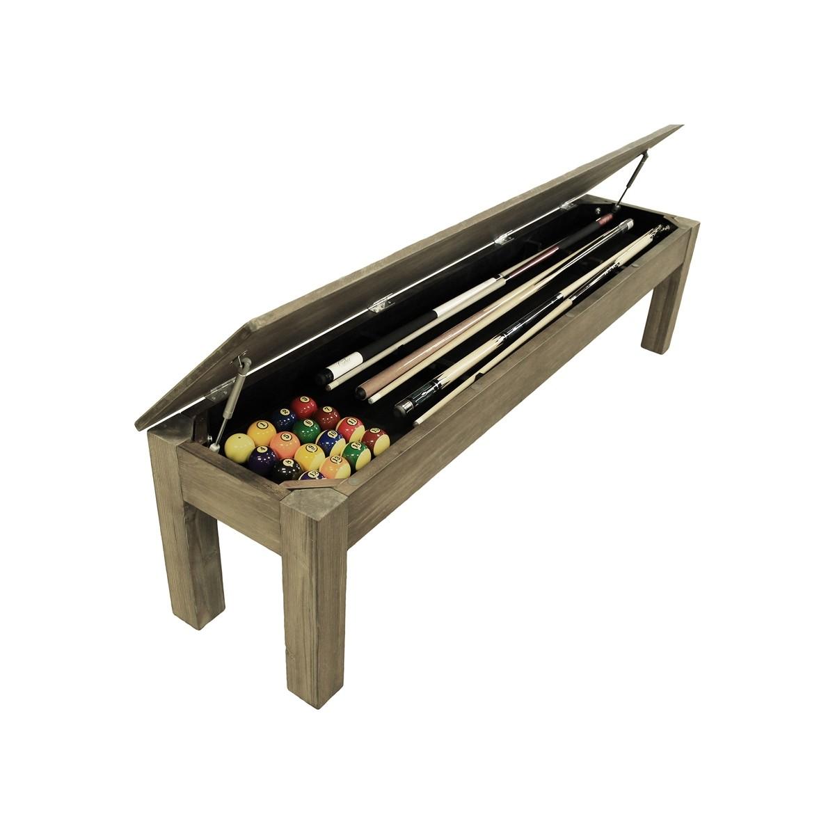 """The Weathered Oak 76"""" Storage Bench - 76""""L x 17""""W x 19""""H"""