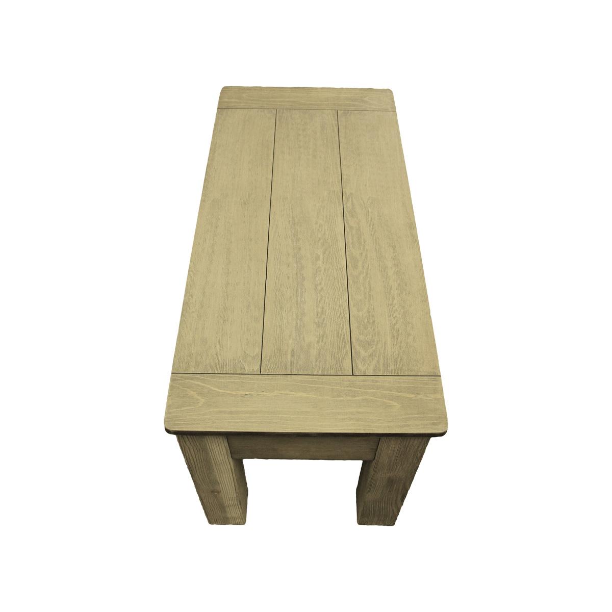 """The Weathered Oak 36"""" Storage Bench - 26""""L x 17""""W x 19""""H"""