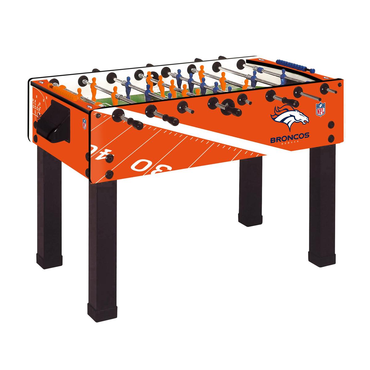 NFL Denver Broncos F Garlando Foosball Table GameTablesOnlinecom - Easton foosball table