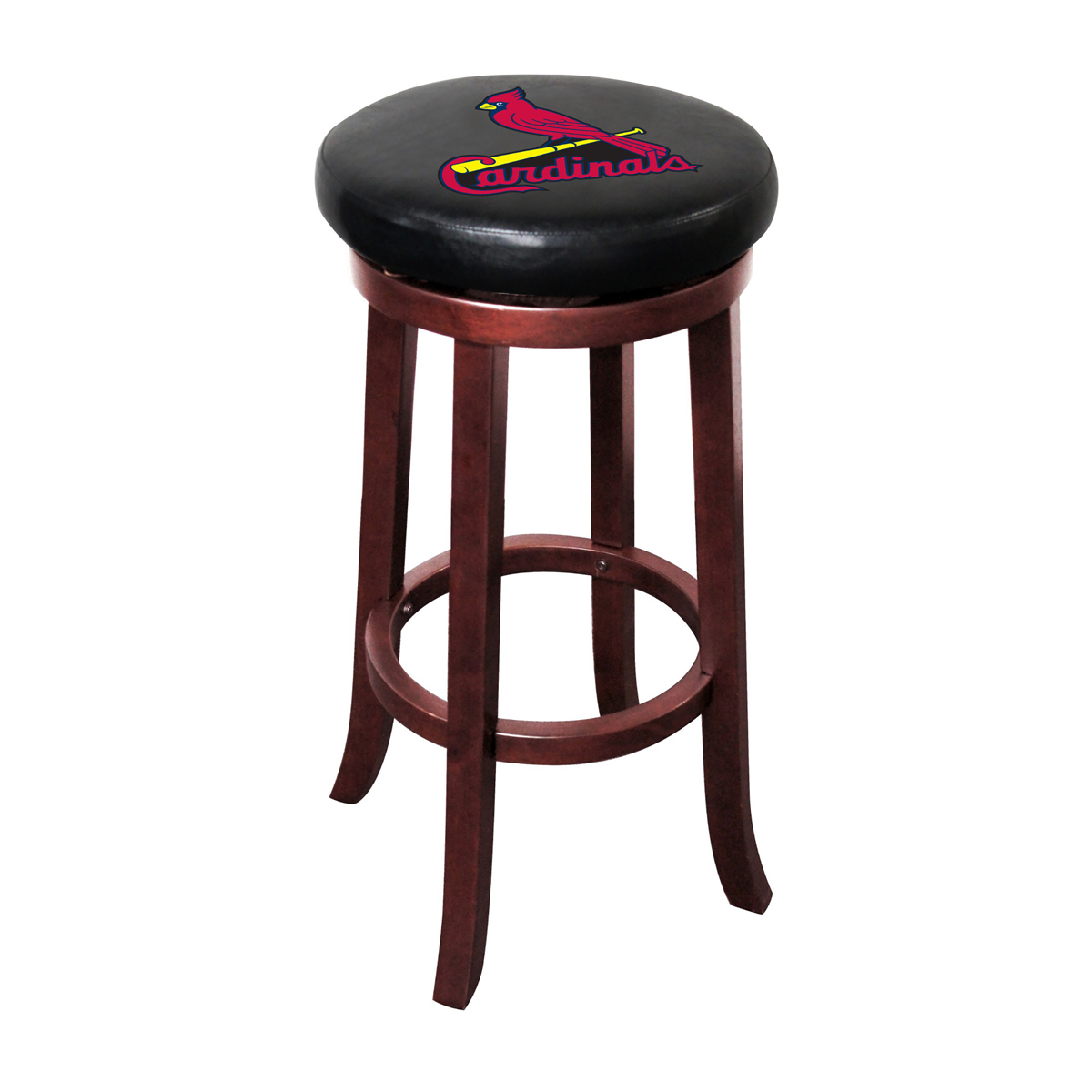 ST. LOUIS CARDINALS WOOD BAR STOOL