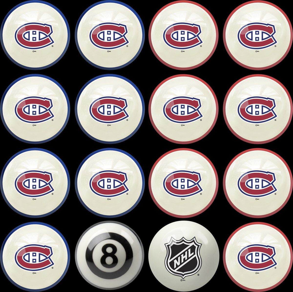 MONTREAL CANADIENS® HOME VS. AWAY BILLIARD BALL SET