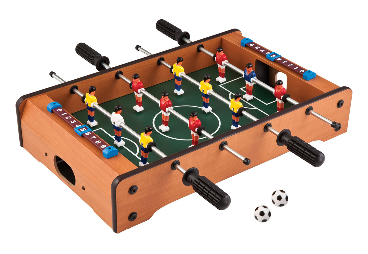 Includes all you need for table soccer!