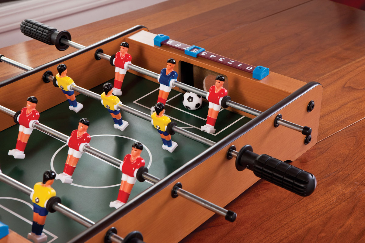 Bright, Colorful Foosball Players