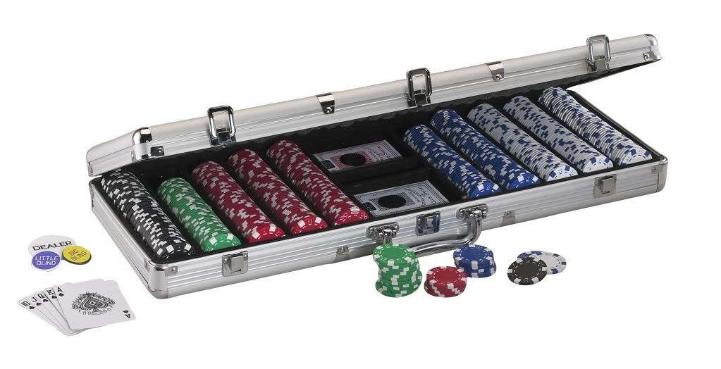 Texas Hold em Dealer Poker Chip Set