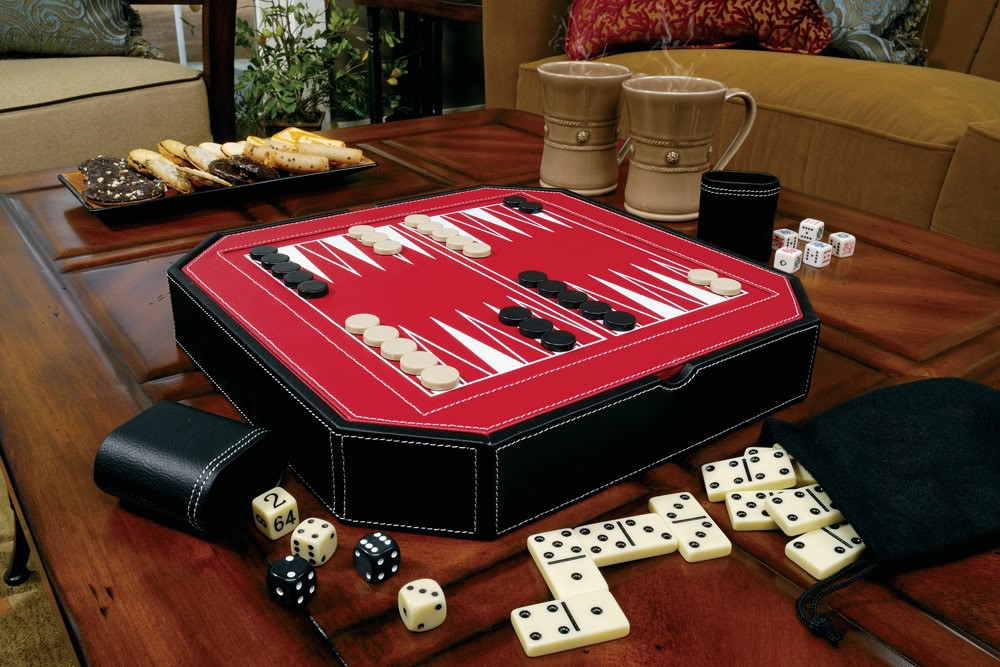 Game Set with Backgammon Top