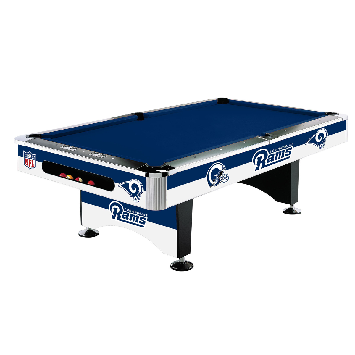 LOS ANGELES RAMS 8-FT. POOL TABLE