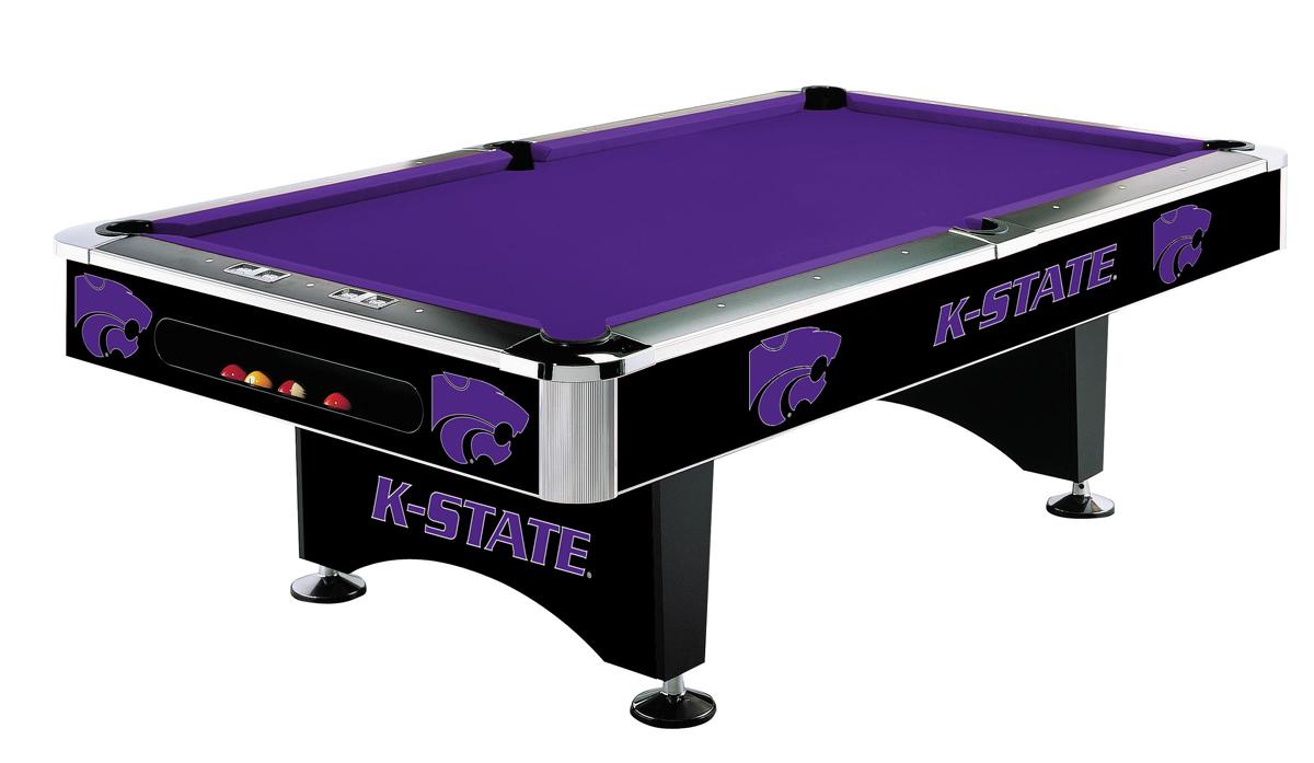 KANSAS STATE UNIVERSITY 8-FT. POOL TABLE