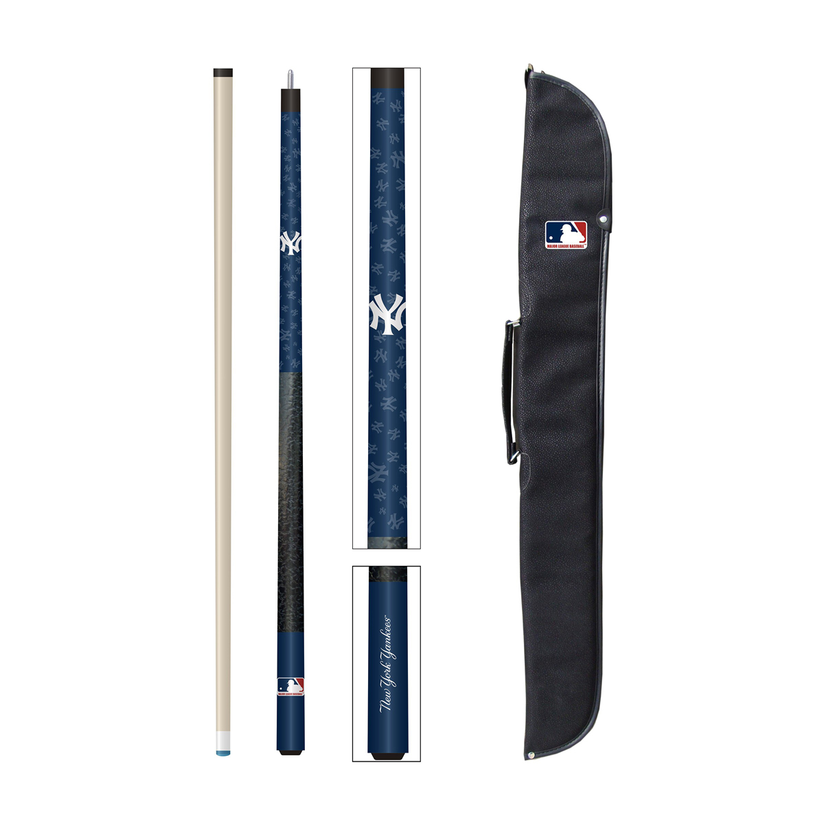 NEW YORK YANKEES CUE AND CASE SET