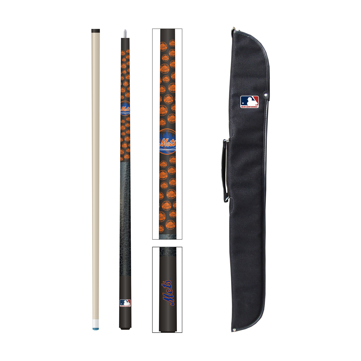 NEW YORK METS CUE AND CASE SET