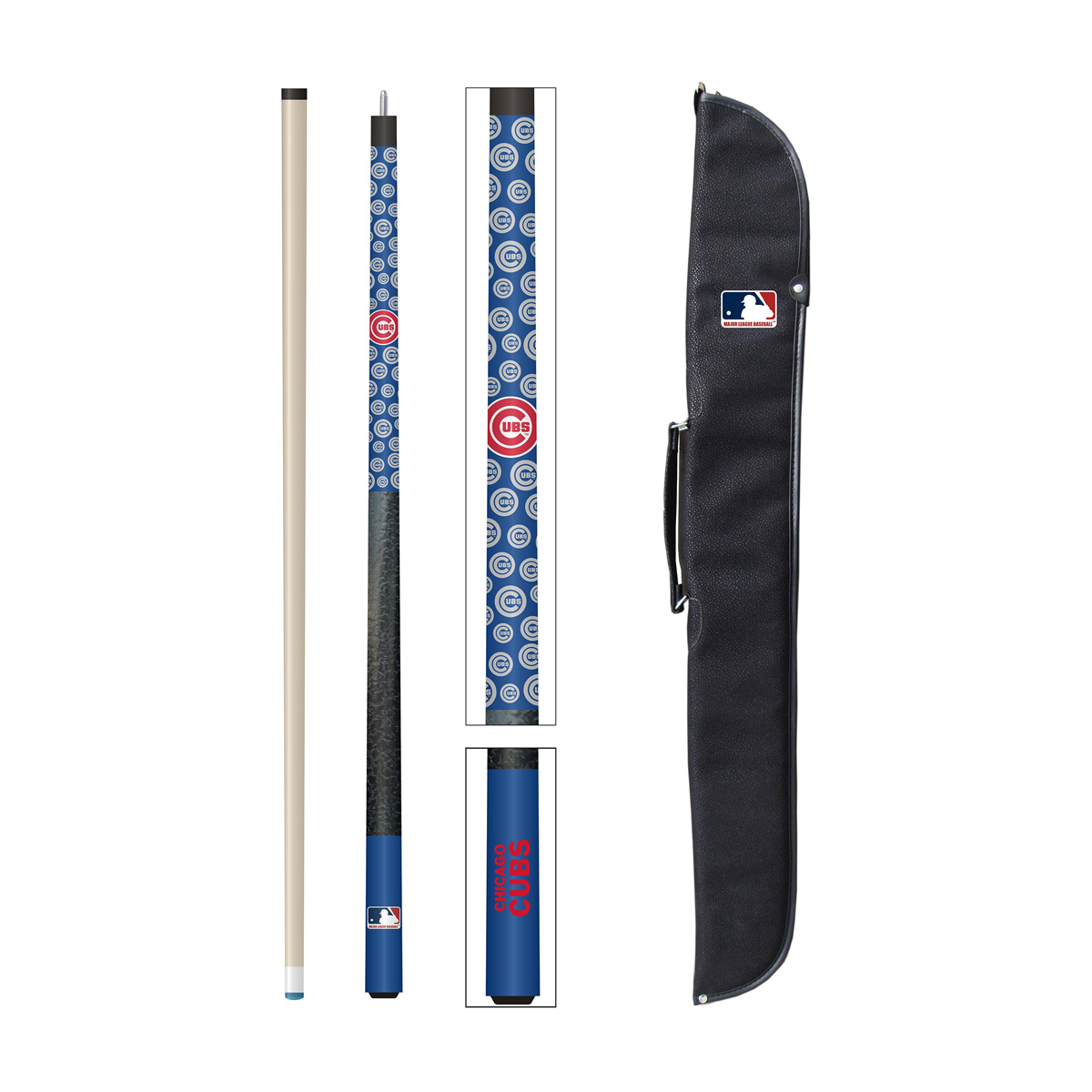 CHICAGO CUBS CUE AND CASE SET