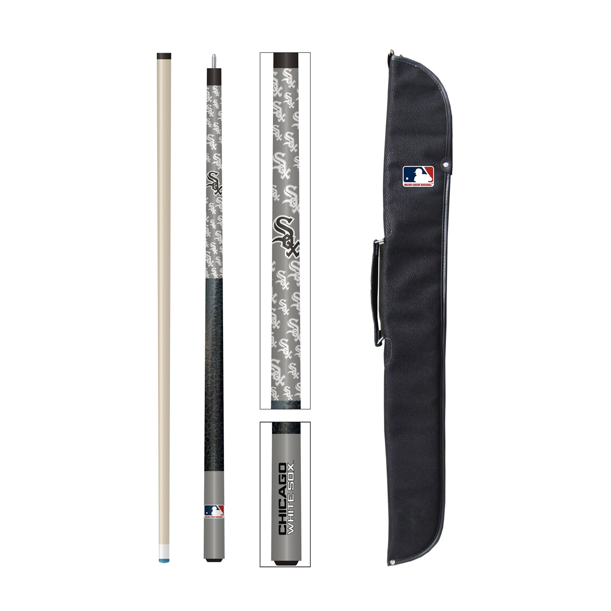 CHICAGO WHITE SOX CUE AND CASE SET
