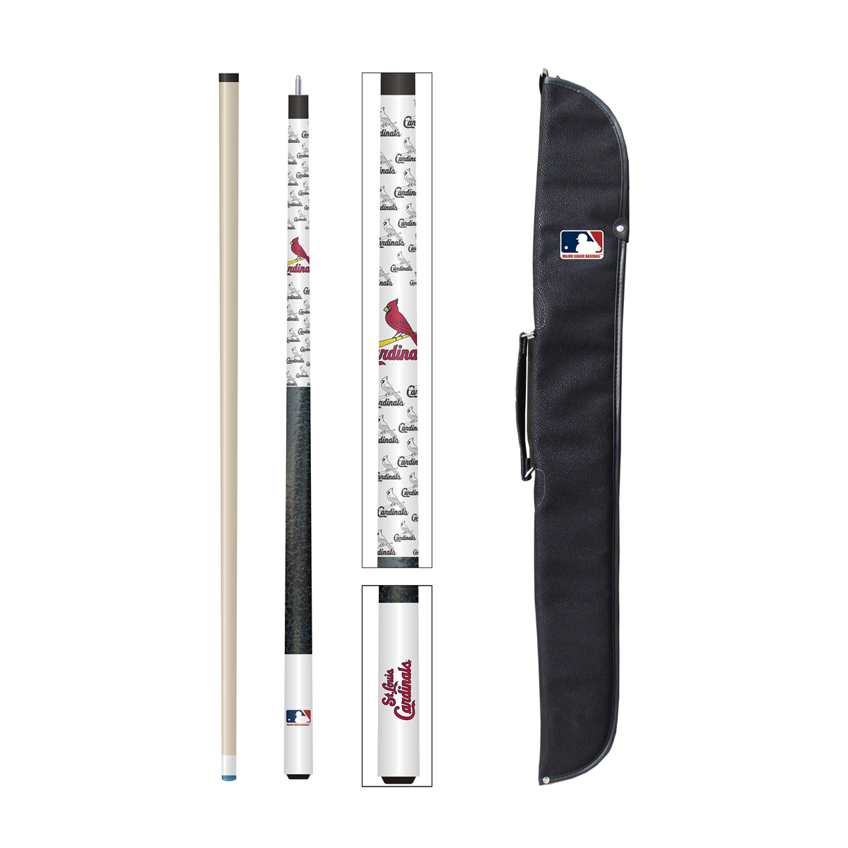 ST. LOUIS CARDINALS CUE AND CASE SET