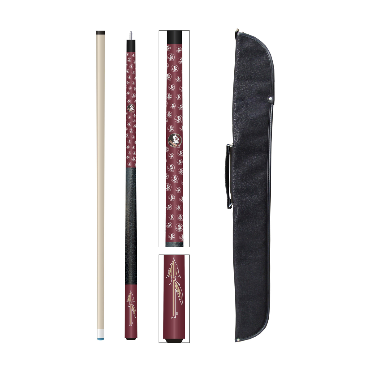 FLORIDA STATE UNIVERSITY CUE AND CASE SET