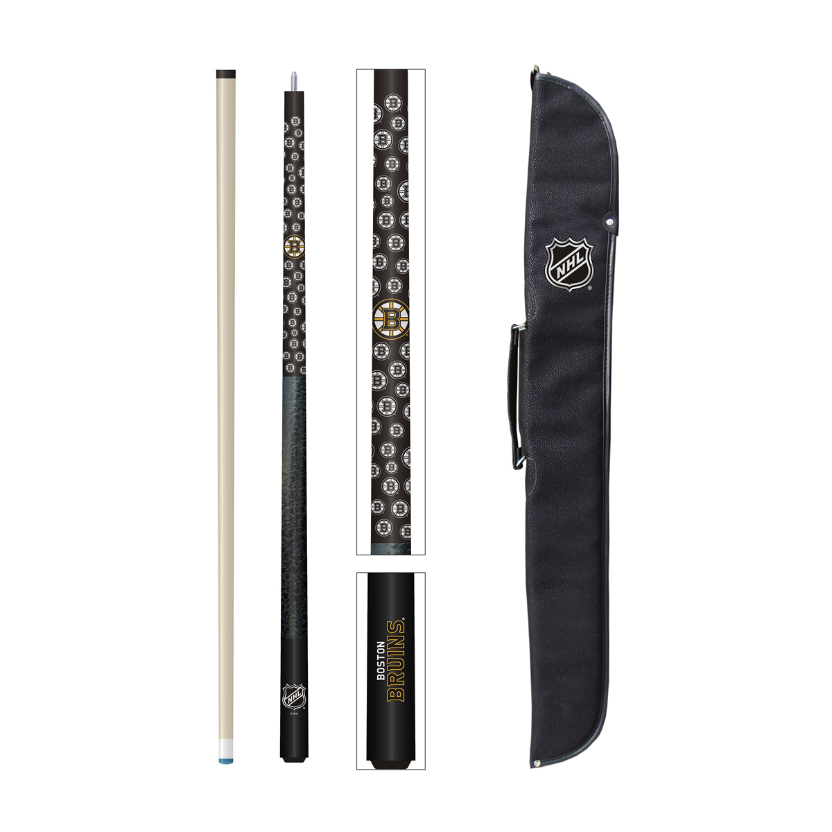 BOSTON BRUINS® CUE AND CASE SET