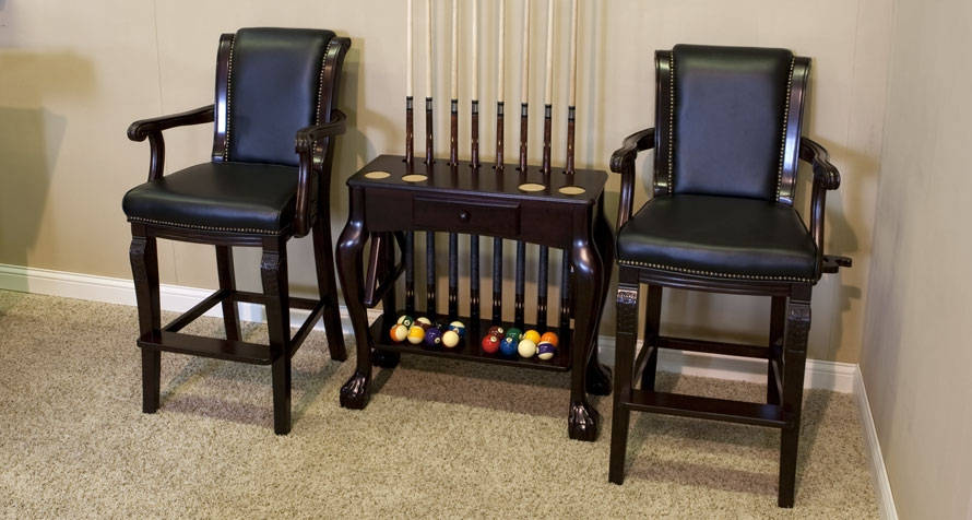 Spectator Chair with Carved Arms u0026 Drink and Cue Holders & Winslow Spectator Chair - GameTablesOnline.com